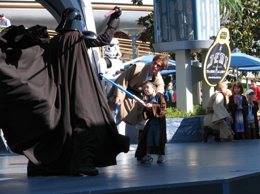 Lord Vader Sparring with a fledgling Jedi Knight