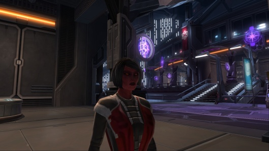 Anexxia, Sith Inquisitor, Relaxing Upon the Imperial Fleet